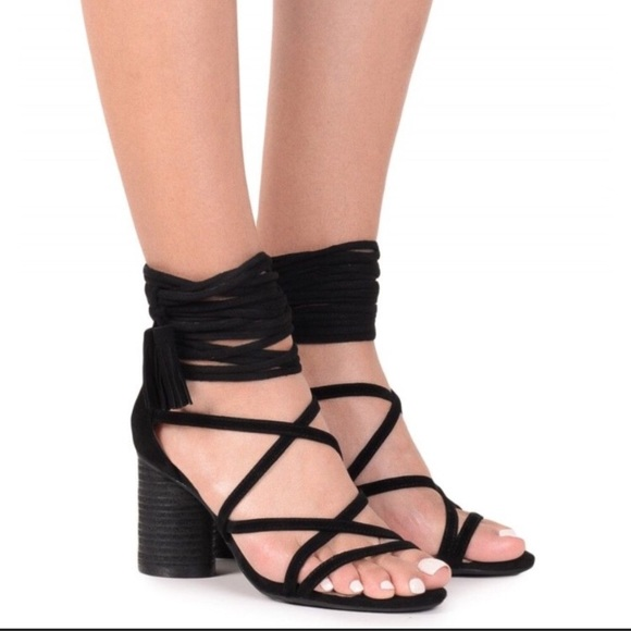 3b394d2fb4c Jeffrey Campbell Shoes - Jeffrey Campbell despina black suede heel sandals
